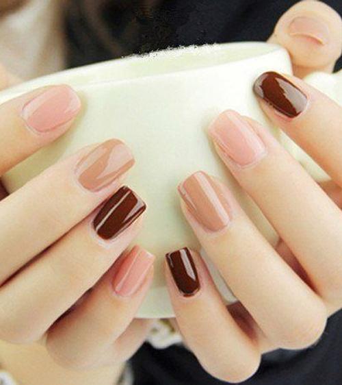 Beautiful Dark Light Pink Nail Art Design You Will Love